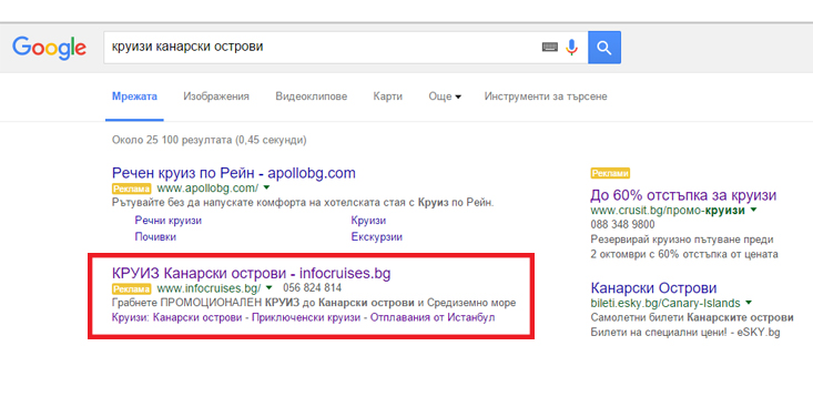 Travel Holidays AdWords
